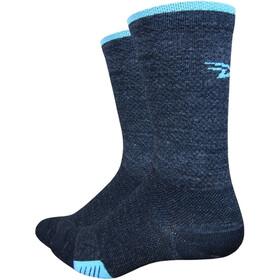 DeFeet Cyclismo Merino Socken schwarz/hellblau